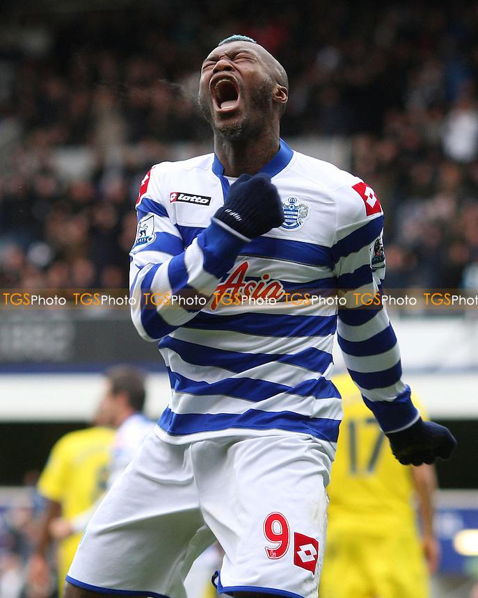 Djibril Cisse scores QPR's goal and celebrates - Queens Park Rangers vs Reading, Barclays Premier League at Loftus Road, London - 04/11/12 - MANDATORY CREDIT: Rob Newell/TGSPHOTO - Self billing applies where appropriate - 0845 094 6026 - contact@tgsphoto.co.uk - NO UNPAID USE.