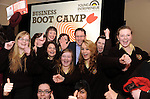 George Lee (RTE, The Business presenter) with Presentation Listowel students   at the Young Entrepreneur Programme Business Boot Camp at the Brandon Conference Centre Tralee on Friday. Picture: Eamonn Keogh (MacMonagle, Killarney)