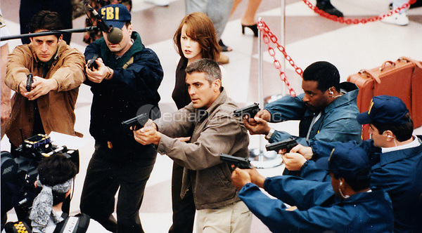 George Clooney and Nicole Kidman on the set of The Peacemaker 1996<br /> Photo By John Barrett/PHOTOlink /MediaPunch