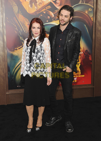 HOLLYWOOD, CA - MAY 7:  Priscilla Presley, Navarone Garibaldi at the Los Angeles premiere of &quot;Mad Max: Fury Road&quot; at the TCL Chinese Theatre on May 7, 2015 in Hollywood, California. <br /> CAP/MPI/PGSK<br /> &copy;PGSK/MediaPunch/Capital Pictures