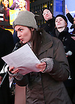 Phillipa Soo attend The Ghostlight Project to light a light and make a pledge to stand for and protect the values of inclusion, participation, and compassion for everyone - regardless of race, class, religion, country of origin, immigration status, (dis)ability, gender identity, or sexual orientation at The TKTS Stairs on January 19, 2017 in New York City.