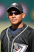 April 17, 2009:  Outfielder Ezequiel Carrera (7) of the West Tenn Diamond Jaxx, Southern League Class-AA affiliate of the Seattle Mariners, during a game at the Baseball Grounds of Jacksonville in Jacksonville, FL.  Photo by:  Mike Janes/Four Seam Images