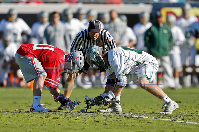 February 17, 2013:  Ohio State vs Jacksonville in the Moe's Southwest Grill Lacrosse Classic at EverBank Stadium in Jacksonville, Florida.