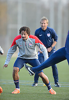 Frankfurt, Germany - Sunday, March 2, 2014: The USA Men's national team practices in preparation for it's match against Ukraine.