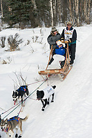 Sonny Lindner w/Iditarider on Trail 2005 Iditarod Ceremonial Start near Campbell Airstrip Alaska SC