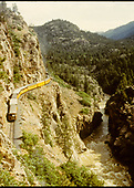 Durango/Silverton train enroute to Silverton on the high line.<br /> D&amp;RGW  High Line, CO