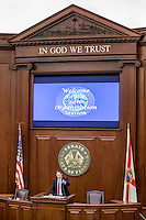 TALLAHASSEE, FLA. 11/22/16-Senate President Joe Negron, R-Stuart, speaks during the 2016 organizational session at the Capitol in Tallahassee.<br /> <br /> COLIN HACKLEY PHOTO