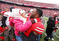 during Saturday's NCAA Division I football game at Ohio Stadium in Columbus on November 23, 2013. (Barbara J. Perenic/The Columbus Dispatch)