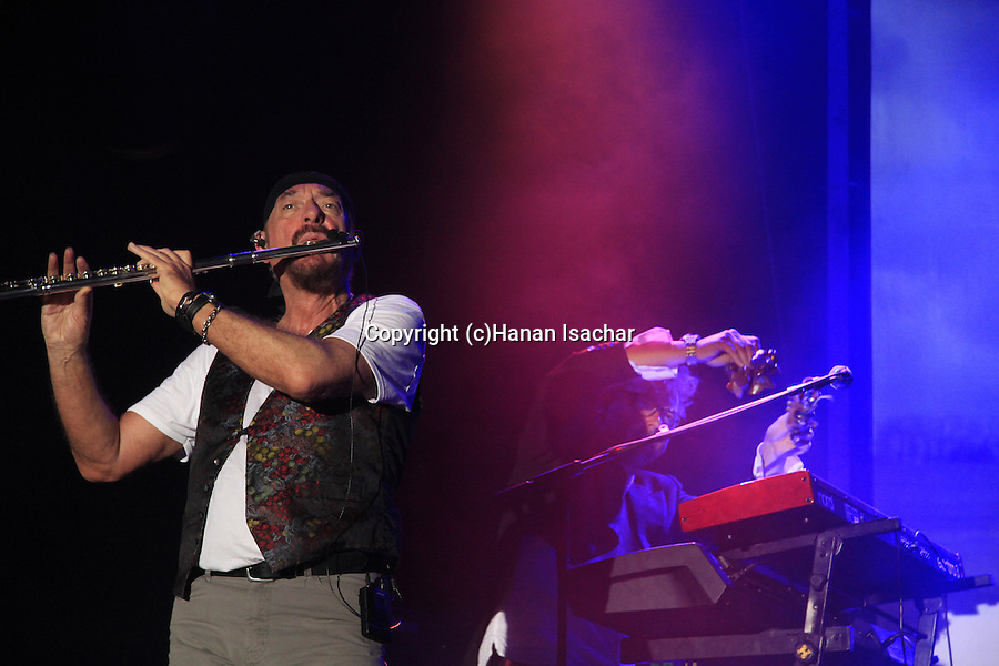 Israel, Ian Anderson plays ?Thick as a Brick? at Hangar 11 in Tel Aviv, with John O'Hara - keyboards