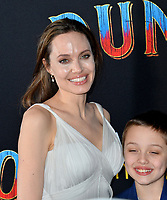 """LOS ANGELES, CA. March 11, 2019: Angelina Jolie at the world premiere of """"Dumbo"""" at the El Capitan Theatre.<br /> Picture: Paul Smith/Featureflash"""