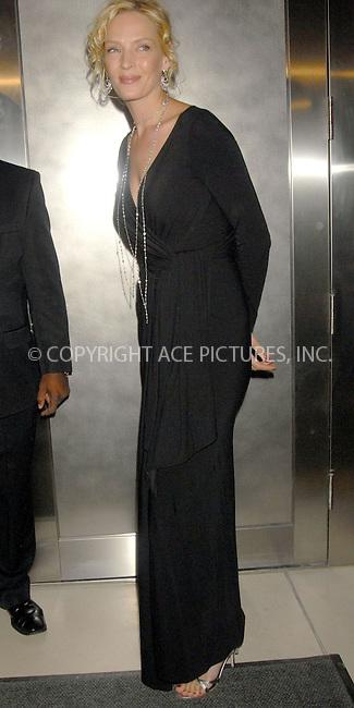 WWW.ACEPIXS.COM . . . . . ....January 23rd, 2007, New York City. ....Uma Thurman Hosts Evening at Christies to Benefit Room to Grow. ....Please byline: KRISTIN CALLAHAN - ACEPIXS.COM.. . . . . . ..Ace Pictures, Inc:  ..(212) 243-8787 or (646) 769 0430..e-mail: info@acepixs.com..web: http://www.acepixs.com