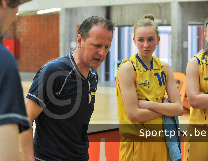 Beker Van Vlaanderen U19 meisjes ; Sint - Katelijne - Waver - Basket Lummen : Coach van Basket Lummen Bart Wouters.foto VDB  / Bart Vandenbroucke