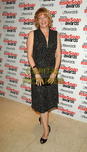 CHARLIE HARDWICK.The 2006 Inside Soap Awards at Floridita..25th September 2006  London, England.full length black sleeveless dress.CAP/BEL.© Tom Belcher/Capital Pictures.