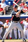 6 March 2007: Atlanta Braves outfielder Ryan Langerhans in Grapefruit League action against the Washington Nationals at Space Coast Stadium in Viera, Florida.<br /> <br /> Mandatory Photo Credit: Ed Wolfstein Photo