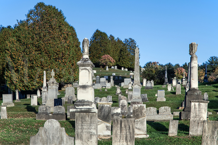 Rustic cemetery, Wallingford, Vermont, USA.