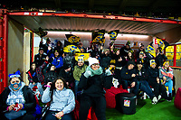Fans watch the Super Rugby match between the Hurricanes and Blues at Westpac Stadium in Wellington, New Zealand on Saturday, 7 July 2018. Photo: Dave Lintott / lintottphoto.co.nz
