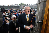 26/4/08 Taoiseach Bertie Ahern attends a commemoration service for the 1916 Easter Rising at Arbour Hill, Dublin. Picture:Arthur Carron/Collins