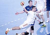Australia's Tommy Fletcher (b) and Hungary's Szabolcs Szollosi during 23rd Men's Handball World Championship preliminary round match.January 14,2013. (ALTERPHOTOS/Acero) /NortePhoto