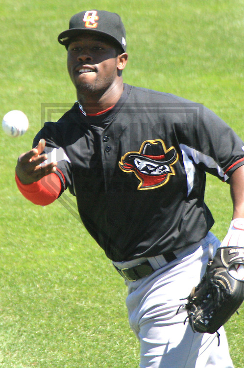 APPLETON - JUNE 2010: C.J. Beatty of the Quad Cities River Bandits, Class-A affiliate of the St. Louis Cardinals, during a game on June 30, 2010 at Fox Cities Stadium in Appleton, Wisconsin. (Photo by Brad Krause)