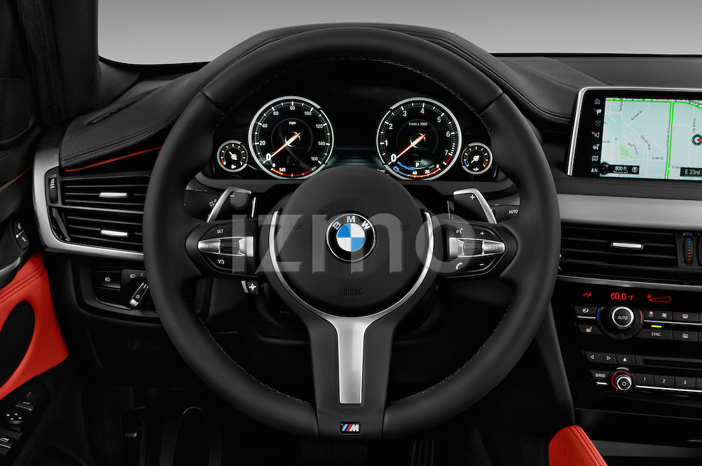 Car pictures of steering wheel view of a 2017 BMW X6 sDrive35i 5 Door SUV Steering Wheel