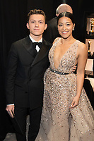 Gina Rodriguez and Tom Holland pose backstage during the live ABC Telecast of The 90th Oscars&reg; at the Dolby&reg; Theatre in Hollywood, CA on Sunday, March 4, 2018.<br /> *Editorial Use Only*<br /> CAP/PLF/AMPAS<br /> Supplied by Capital Pictures