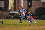 The Panthers' Jack Dye runs vs. The Eagles in Oxford Park Commission flag football, at FNC Park in Oxford, Miss. on Tuesday, November 19, 2013.