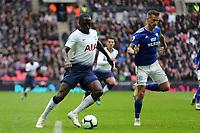 Moussa Sissoko of Tottenham Hotspur during Tottenham Hotspur vs Cardiff City, Premier League Football at Wembley Stadium on 6th October 2018
