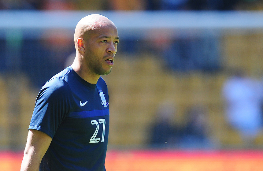 Preston North End's Alex Baptiste<br /> <br /> Photographer Kevin Barnes/CameraSport<br /> <br /> The EFL Sky Bet Championship - Wolverhampton Wanderers v Preston North End - Sunday 7th May 2017 - Molineux Stadium <br /> <br /> World Copyright &copy; 2017 CameraSport. All rights reserved. 43 Linden Ave. Countesthorpe. Leicester. England. LE8 5PG - Tel: +44 (0) 116 277 4147 - admin@camerasport.com - www.camerasport.com