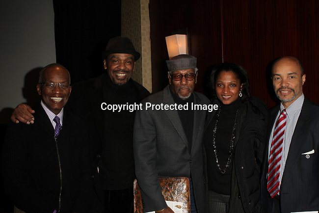 Ron West MA, MSED, Imhotep Gary Byrd , Herb Boyd,  Adrienne Smith and Jeff Burns, Jr. Attend The Greater Harlem Chamber of Commerce and its media partners WBLS-FM and New York Amsterdam News presents: New York City Tourism 2013, Hosted by NYC & CO, Marriott, Harlem Arts Alliance and I LOVE NY Held at the Marriott Marquis Hotel, NY