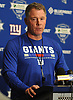 Pat Shurmur, New York Giants Head Coach, speaks with the media during the second day of the team's Rookie Minicamp held at Quest Diagnostics Training Center in East Rutherford, NJ on Saturday, May 12, 2018.