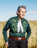 Professor in the Department of Animal Sciences at Colorado State University Dr. Temple Grandin at an experimental cattle feed lot in Fort Collins, Colorado, Monday, November 19, 2018.<br /> <br /> Photo by Matt Nager