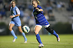 18 October 2012: Duke's Kaitlyn Kerr. The University of North Carolina Tar Heels defeated the Duke University Blue Devils 2-0 at Koskinen Stadium in Durham, North Carolina in a 2012 NCAA Division I Women's Soccer game.