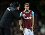 West Ham's Slaven Bilic with Mark Noble<br /> <br /> - English Premier League - West Ham Utd vs Tottenham  Hotspur - Upton Park Stadium - London - England - 2nd March 2016 - Pic David Klein/Sportimage