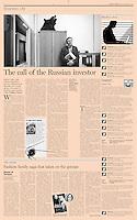 Financial Times (leading British daily) on Rostelecom-CEO Sergey Kalugin, Moscow, Russia, February 2010<br /> Photo: Irina Popova