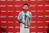 Foxborough, MA - Saturday June 18, 2016: Lionel Messi after a Copa America Centenario quarterfinal match between Argentina (ARG) and Venezuela (VEN)  at Gillette Stadium.