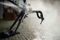 cleaning the bikes afterward<br /> <br /> Druivenkoers 2014<br /> Huldenberg - Overijse (Belgium): 196km