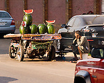 Cairo, Egypt -- A vendor selling watermelons in central Cairo. © Rick Collier / RickCollier.com