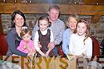 Enjoying a family night out were the O'Keeffe's and Hartnett's from Castleisland, pictured here last Saturday night in Leen's Hotel, Abbeyfeale, l-r: Ann Marie O'Keeffe, Nell Hartnett, Garry O'Keeffe, Nora Anne Hartnett, Noreen Hartnett and Lizzie Mai Hartnett.