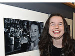Kate Gorman with a photo of herself taken by her mother Gillian at the opening of Mid-Louth Camera Club exhibition in the Market House Dunleer. Photo: Colin Bell/pressphotos.ie