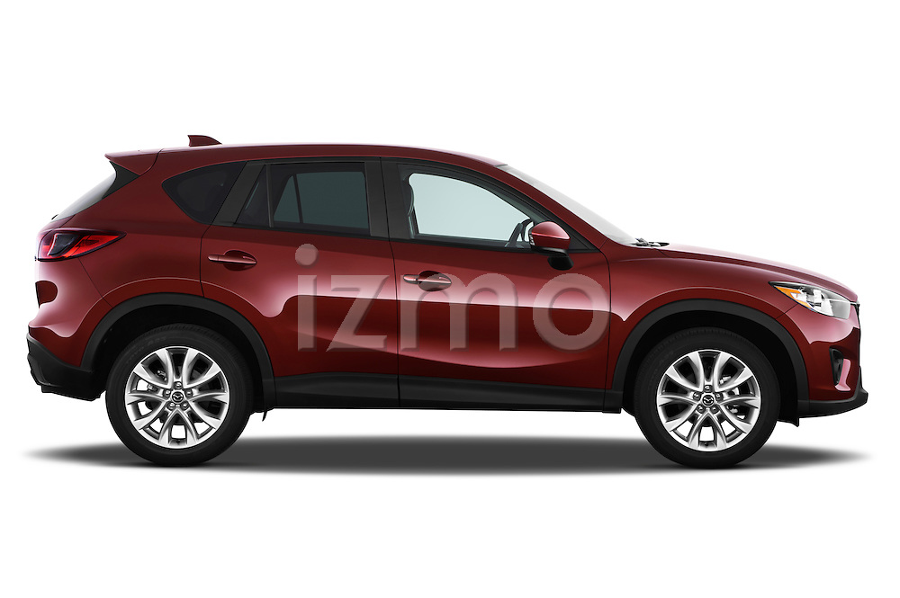 Passenger side profile view of a 2013 Mazda CX-5 GT.