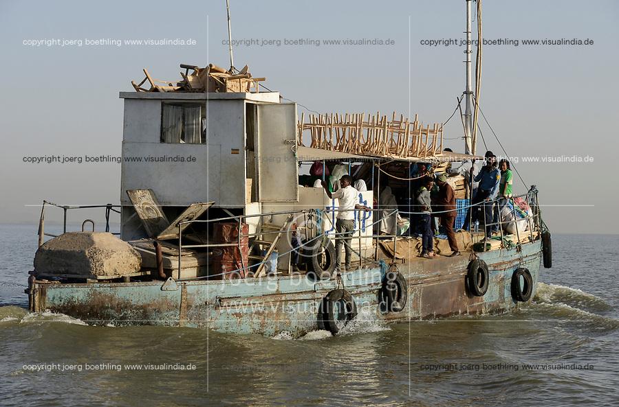 ETHIOPIA , Bahar Dar, lake Tana, ferry boat transport people and cargo / AETHIOPIEN, Bahir Dar, See Tana, Faehr Boot