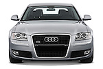 Straight front view of a 2010 Audi A8 4 Door Sedan 4WD