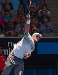 Viktor Troicki (SRB) loses to Tomas Berdych (CZE) 6-4, 6-3, 6-4 at the Australian Open being played at Melbourne Park in Melbourne, Australia on January 23, 2015