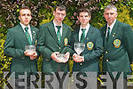 IRISH TEAM: Members of the Tralee Bay Angling Club who qualified to represent Ireland in the U21's International Home Nations Angling competition at Samphire Hoe in Dover, England l-r: Christopher O'Sullivan Carmoneen, Stephen M. O'Sullivan Caherslee, Sean Dorherty (Captain), Oakpark and Philip O'Sullivan (Youth Coach), Caherslee.   Copyright Kerry's Eye 2008