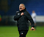 Chris Wilder manager of Sheffield Utd celebrates the win during the Championship match at the Macron Stadium, Bolton. Picture date 12th September 2017. Picture credit should read: Simon Bellis/Sportimage