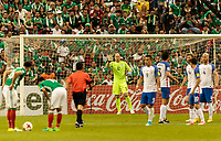 Mexico City, Mexico - Sunday June 11, 2017: Brad Guzan during a 2018 FIFA World Cup Qualifying Final Round match with both men's national teams of the United States (USA) and Mexico (MEX) playing to a 1-1 draw at Azteca Stadium.