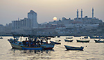 The harbor in Gaza City, Gaza. The Israeli military prevents fishers from venturing more than six nautical miles out to sea--and often times even less--preventing them from catching the fish the Palestinian territory needs. Although Gaza sits beside the Mediterranean, residents complain about high prices--a result of restricting the fishing fleet from going farther out to sea.