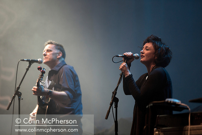 McIntoshRoss (Ricky Ross and Lorraine McIntosh) appearing at A Night for Scotland, a concert at the Usher Hall, Edinburgh staged by supporters of Scottish independence. The concert featured a number of top Scottish musicians and bands all of whom were supporting Scotland's independence from the rest of the United Kingdom. On the 18th of September 2014, the people of Scotland voted in a referendum to decide whether the country's union with England should continue or Scotland should become an independent nation once again.