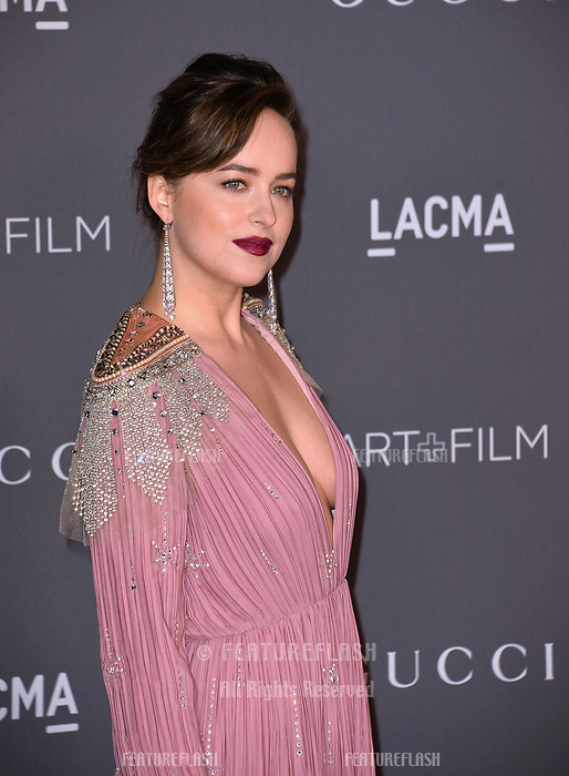 Dakota Johnson at the 2017 LACMA Art+Film Gala at the Los Angeles County Museum of Art, Los Angeles, USA 04 Nov. 2017<br /> Picture: Paul Smith/Featureflash/SilverHub 0208 004 5359 sales@silverhubmedia.com