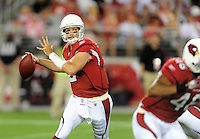 Aug. 22, 2009; Glendale, AZ, USA; Arizona Cardinals quarterback (2) Brian St. Pierre against the San Diego Chargers during a preseason game at University of Phoenix Stadium. Mandatory Credit: Mark J. Rebilas-